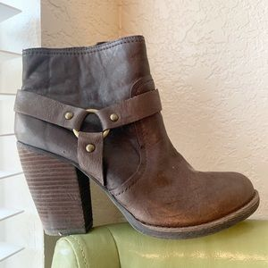 Kork-Ease Farah leather stacked chunky heel boots